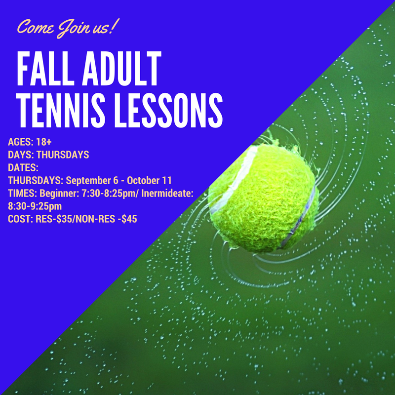 Fall Tennis Lessons