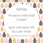 Womens Volleyball League spring